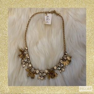 J. Crew Factory Crystal Bouquet Necklace - NWT